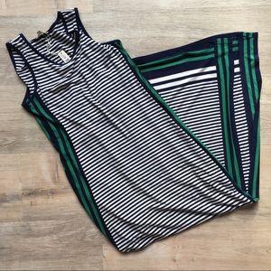 Max Studio striped maxi dress size XS